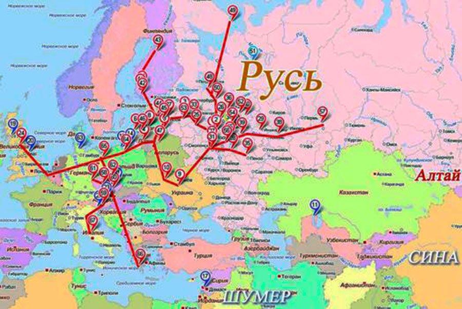 Ищите старинные карты торговых путей Древней Руси